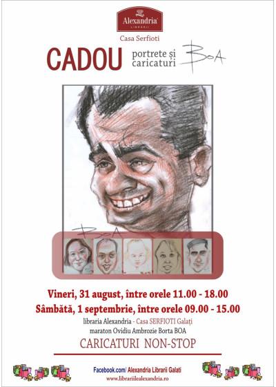 Maraton de caricaturi și portrete gratuite la Alexandria Librării Galați