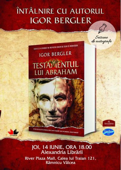 Întâlnire cu autorul-fenomen Igor Bergler la Rm. Vâlcea și Bistrița