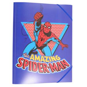 Mapă plastic cu elastic Spiderman