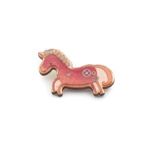 Broșă Unicorn Roz