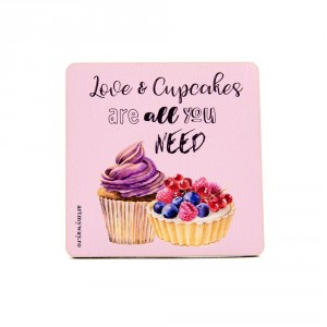 Suport pahar LOVE and CUPCAKES