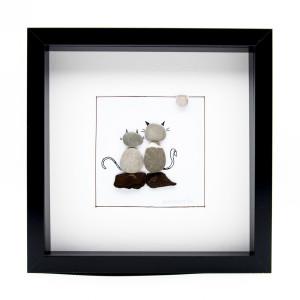 Tablou ZEN Cats - Colecția Pebble Art - 0110