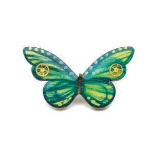 Brosă GREEN BUTTERFLY