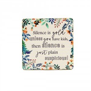 Suport pahar SILENCE IS GOLD