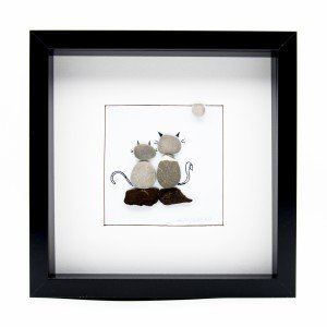 Tablou ZEN Cats - Colecția Pebble Art - 0110