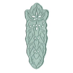 Semn de carte brodat LaRue, frunze, vernil