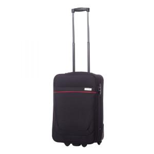 Troler Carla negru cu roșu 54x35x17 cm