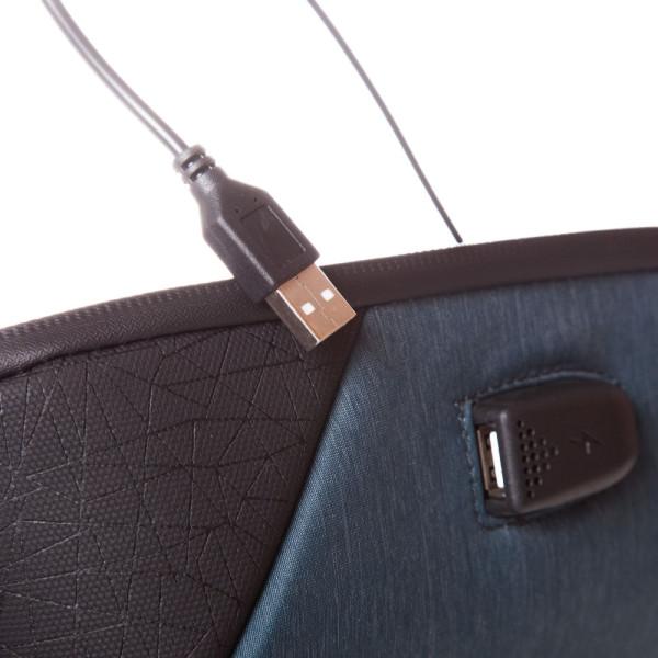 Rucsac laptop Trust USB 33x21.5x9 cm, 600 gr, albastru