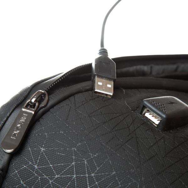 Rucsac laptop 15 inch Anchor USB 44x30x14 cm, 950 gr, maro