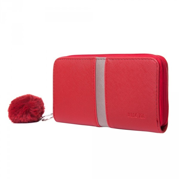 Portofel de damă Ofelia roșu 19x10x2 cm