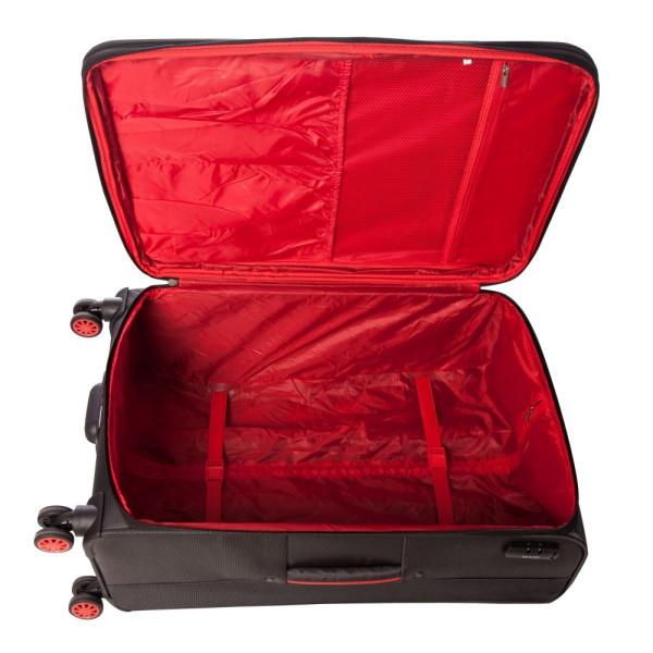 Troler Essen Gri cu Roșu 77x46x30 cm