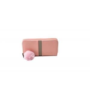 Portofel damă Lamonza Ofelia roz 19x10x2 cm