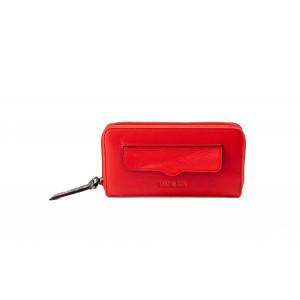 Portofel damă Lamonza Amber roșu 20x10x2.5 cm