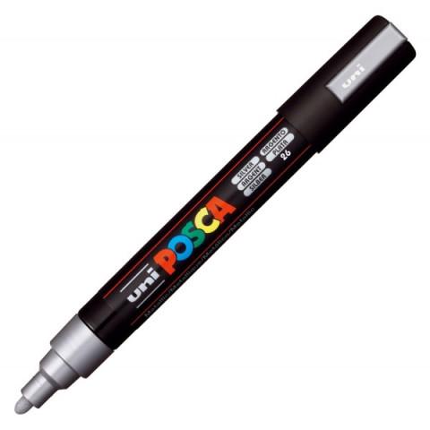 Marker Uni PC-5M Posca Argintiu M299