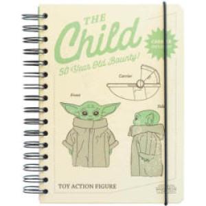 Agendă Star Wars The Child Yoda, A5, 90 de file, spirală exterioară, cu elastic și buzunar interior, produs licențiat