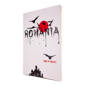 Agendă nedatată Dracula - România, foi albe, A5