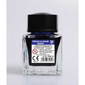 Călimară cerneală sticlă 30ml albastră