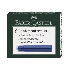 Cartușe Cerneală Mici Faber-Castell Albastru 6 buc/cutie