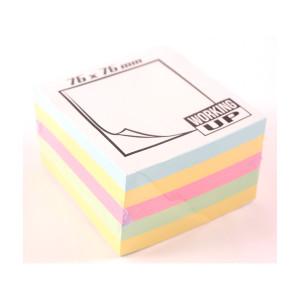 Cub notes adeziv WUP culori Pale 76X76 mm 500 coli