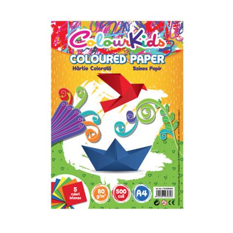 Hârtie color colour kids A4 80gr 500 coli 5 culori intense