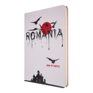 Agendă nedatată Dracula - România, foi albe