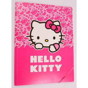 Mapă plastic cu elastic A4, Hello Kitty