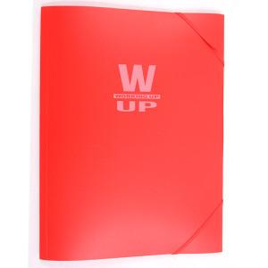Mapă plastic cu elastic Working-Up 600mic roșu