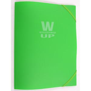Mapă plastic cu elastic Working-Up 600mic verde