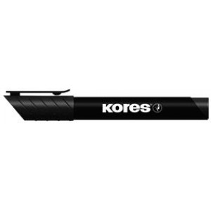 Marker permanent vârf rotund, negru, 3mm Kores