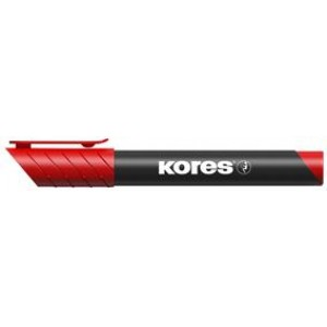 Marker permanent vârf rotund roșu 3mm Kores