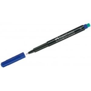 Marker permanent albastru multimark Faber Castell
