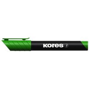Marker permanent vârf rotund verde 3mm Kores