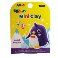 Plastilină Amos Pinguin 30G