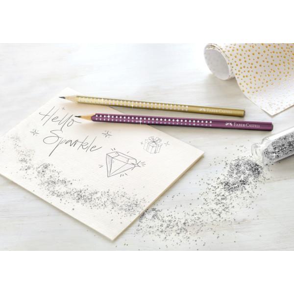 Creion Grafit B Sparkle Argintiu