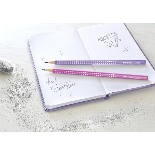 Creion Grafit B Sparkle Violet