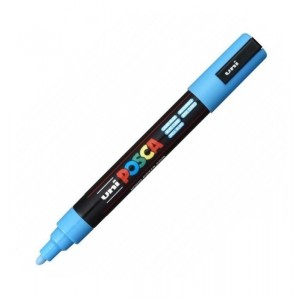 Marker Uni PC-5M Posca Albastru Deschis M317