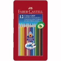 Creioane Colorate Grip 2001 12 culori / cutie metal