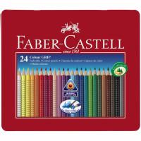 Creioane Colorate Grip 2001 24 culori / cutie metal