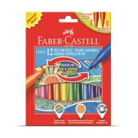 Set 12 culori Carioci Cu Vârf Retractabil