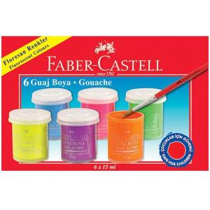 Guase 6 Culori 15 ml Fluorescente