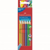 Set 6 culori Creioane Colorate Jumbo Grip