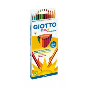 Set creioane colorate Giotto Elios 24