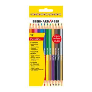 Creioane colorate bicolore 12*2 Eberhard Faber