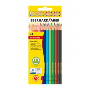 Creioane Colorate Plastic 24 Culori Eberhard Faber