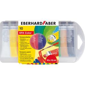 Tempera 10 culori 12 ml cut. plastic Eberhard Faber