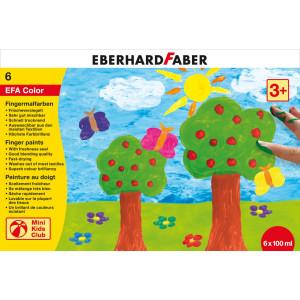 Set pictură cu degetele 6 culori 100ml Eberhard Faber