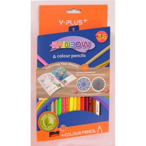 Creioane Color RAINBOW 36 buc