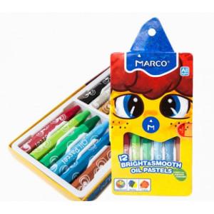 Creioane cerate 12 culori Marco 1100OP