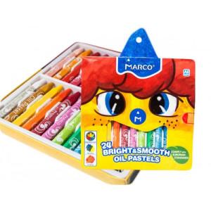 Creioane cerate 24 culori Marco 1100OP