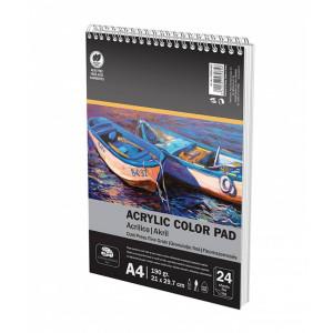 Bloc Desen Spiră A4 190g 24file Culori Acrilice